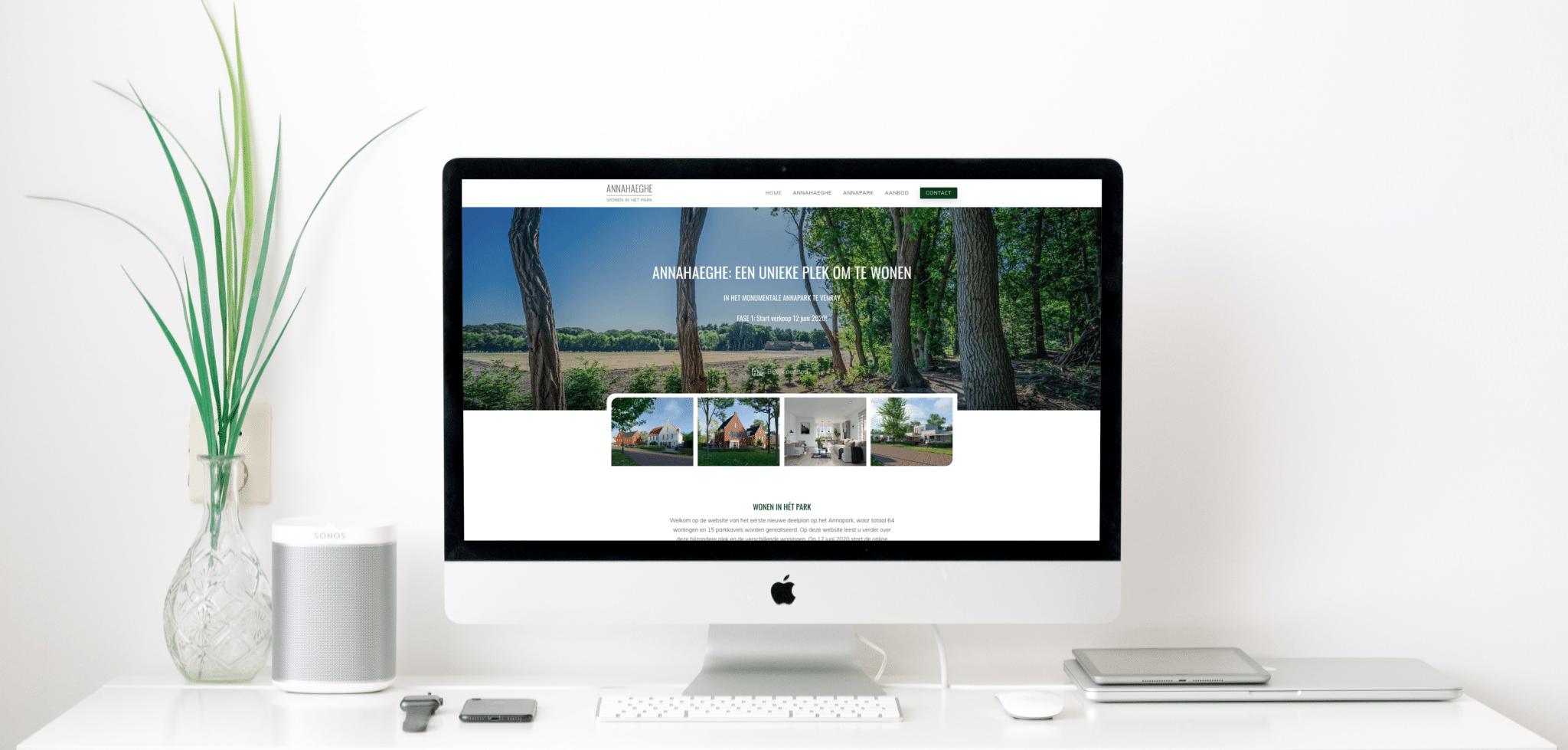 Lancering projectwebsite Annahaeghe