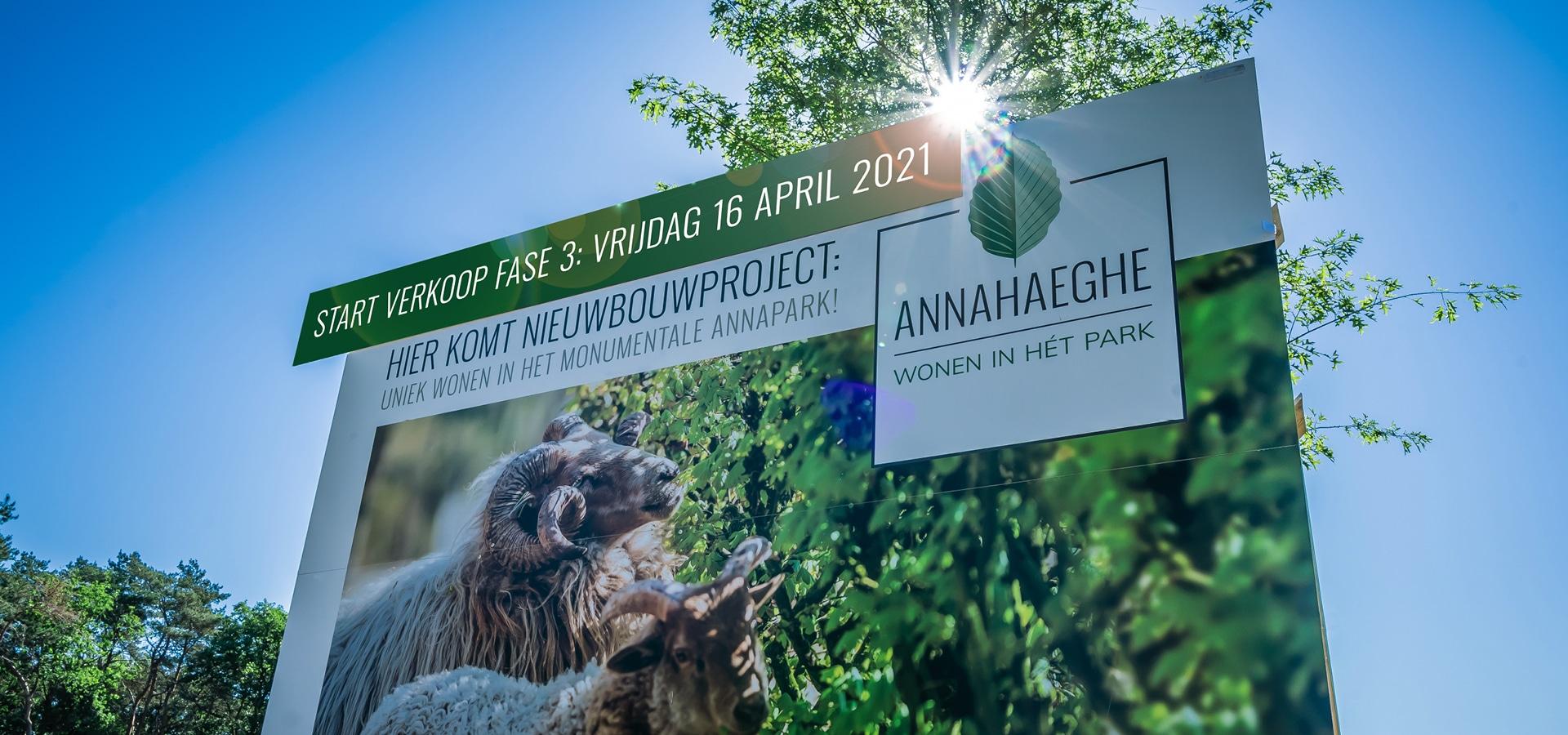 Start verkoop Annahaeghe fase 3: vrijdag 16 april 2021